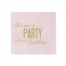 Servetter It´s Not A Party Without Bubbles 16-pack