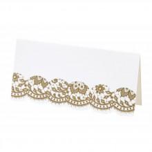 Placeringskort Elegant Guld 10-pack
