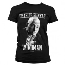 Charlie Runkle Is My Wingman Girly T-Shirt (Svart)