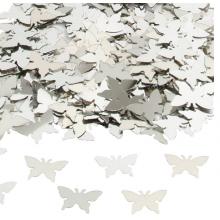 Konfetti Fjärilar Silver