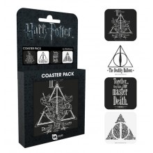 Harry Potter Drinkunderlägg 4-pack Deathly Hallows
