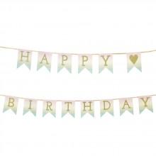 Girlang Happy Birthday Pastell