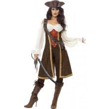 De Sju Haven Pirat Maskeraddräkt