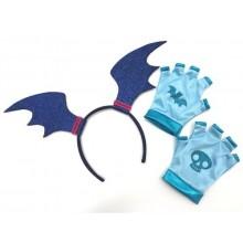 Diadem och Handskar Vampyrina Barnmaskerad