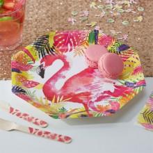 Tallrikar Flamingo Deluxe 8-pack