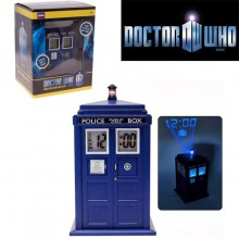 Doctor Who – Tardis Alarmklocka Med Projektionslampa