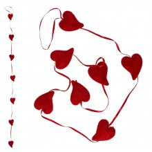 Girlang Röda Hjärtan
