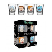 Rick & Morty Shotglas 4st