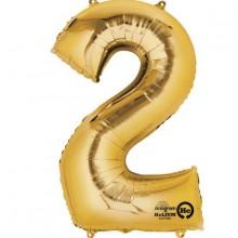 Sifferballong Guld 2