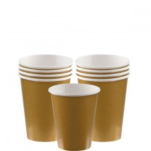 Pappersmugg Guld 8-pack