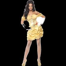 Vuxen Sexig Guldfärgad Prinsessklänning