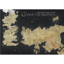 GAME OF THRONES (MAP OF WESTEROS & ESSOS) STOR POSTER