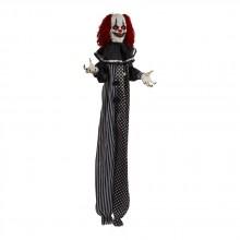 Hängande Läskig Clown Som Låter Och Skakar