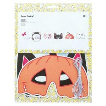 Halloweenmask i Papper 6 olika figurer
