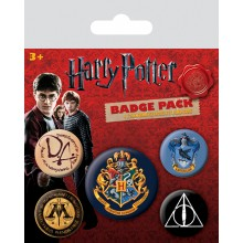 Harry Potter Badges 5-pack Hogwarts