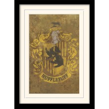 Harry Potter Inramad Poster Hufflepuff Crest