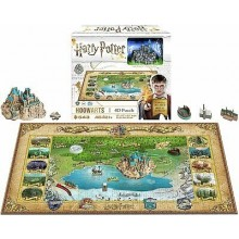 Harry Potter 4D Pussel Mini Hogwarts