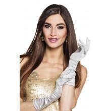 Långa Handskar Silver