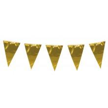 Girlang Stor Guld Vimpel 10 m