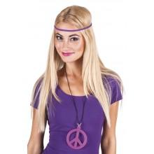 Halsband Rosa Peacetecken