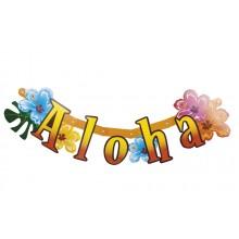 Bokstavsbanner Aloha 83 cm