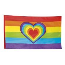 Flagga Pride Hjärta 90x150 cm