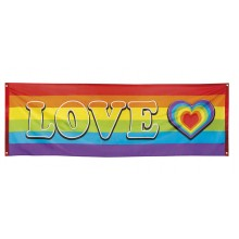 Banderoll Regnbåge Love 74x220 cm