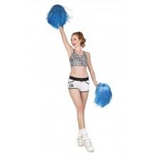Cheerleader Pom Pom Blå