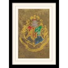 Harry Potter Inramad Poster Hogwarts Crest
