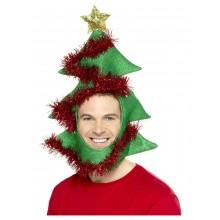 Julgranshatt Med Hål För Ansikte