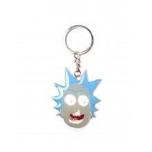 Rick And Morty Nyckelring Rick Face
