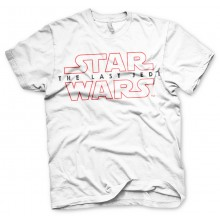 Star Wars The Last Jedi Logo Vit T-shirt