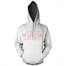 Star Wars The Last Jedi Logo Vit Hoodie