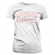 Star Wars The Last Jedi Logo Vit Dam T-shirt