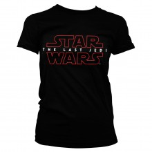 Star Wars The Last Jedi Logo Svart Dam T-shirt