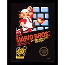 SUPER MARIO BROS. 1 INRAMAD POSTER