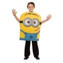 Minions Barnmaskeraddräkt Dave 5-6 år