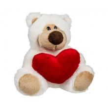 Nallebjörn Med Hjärta Vit