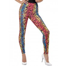 Neon Leggings Leopardmönster