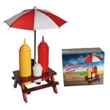 Picnic Set för Ketchup och Senap