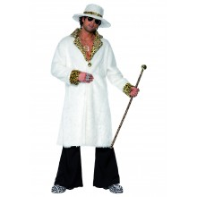 Kopplare Kostym, Vit och Leopardskinn