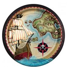 Tallrik Pirat 8-pack