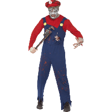 Zombie Rörmokare Maskeraddräkt