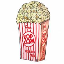 Mjuk Filt Popcorn