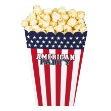 Popcornskål USA 4-pack
