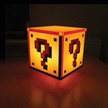 Super Mario Question Block Lampa