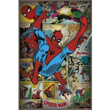 Marvel Comics (Spindelmannen Retro) Poster