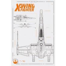 Star Wars Episode VII X-Vinge Poster
