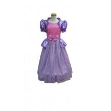 Lila Prinsessklänning med vingar3-5 år