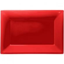 Uppläggningsfat Röd 3-pack